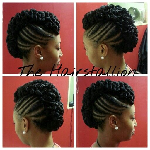 Cool Summer Quick Braid Updo Girls Natural Hairstyles Hair Projects Quick Braids