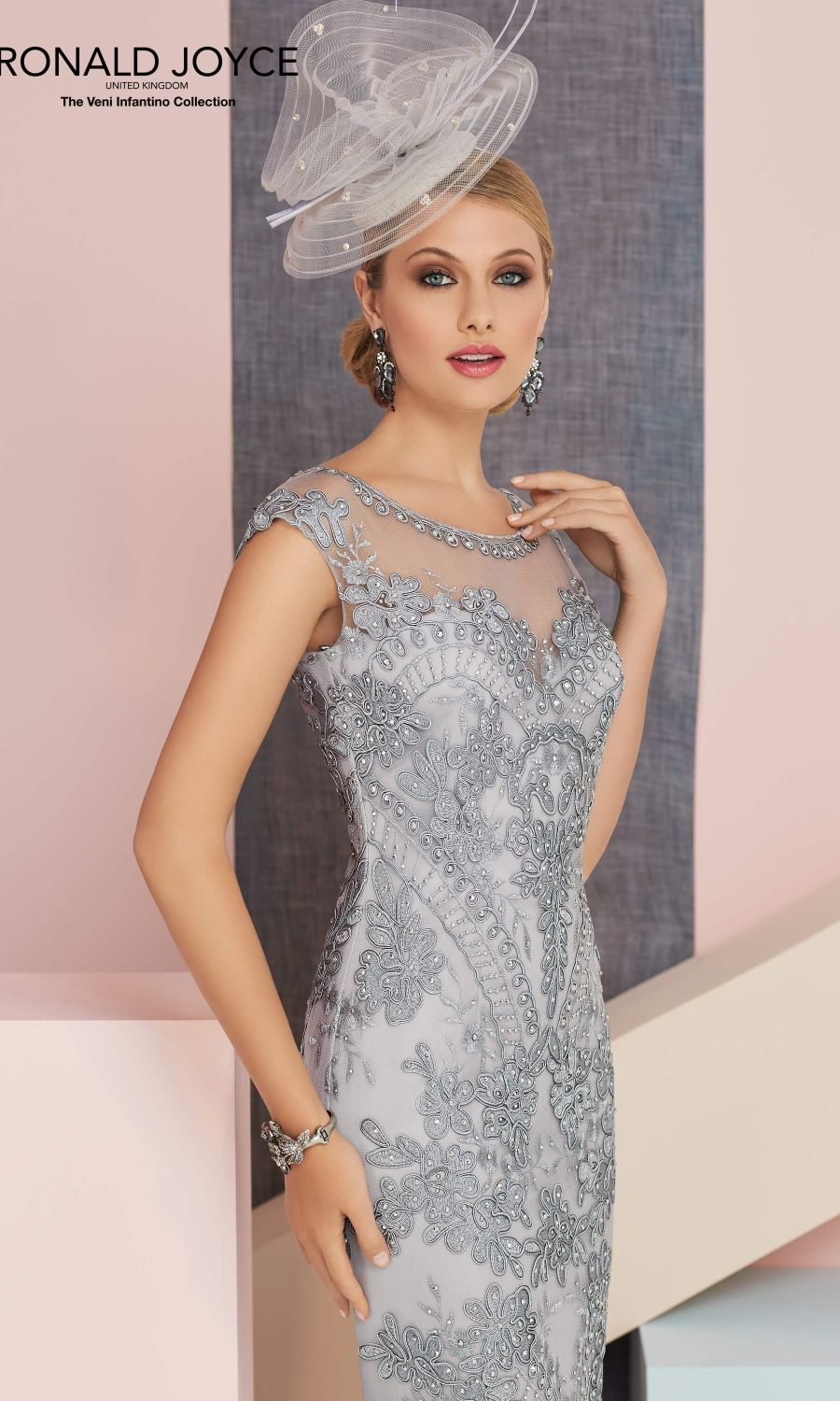 Ladies Going Out Evening Party Special Occasion Cocktails Smart Formal Wedding Guest Mother of The Bride Groom Fitted Dress Roman Originals Women Chiffon Lace Fitted Dress