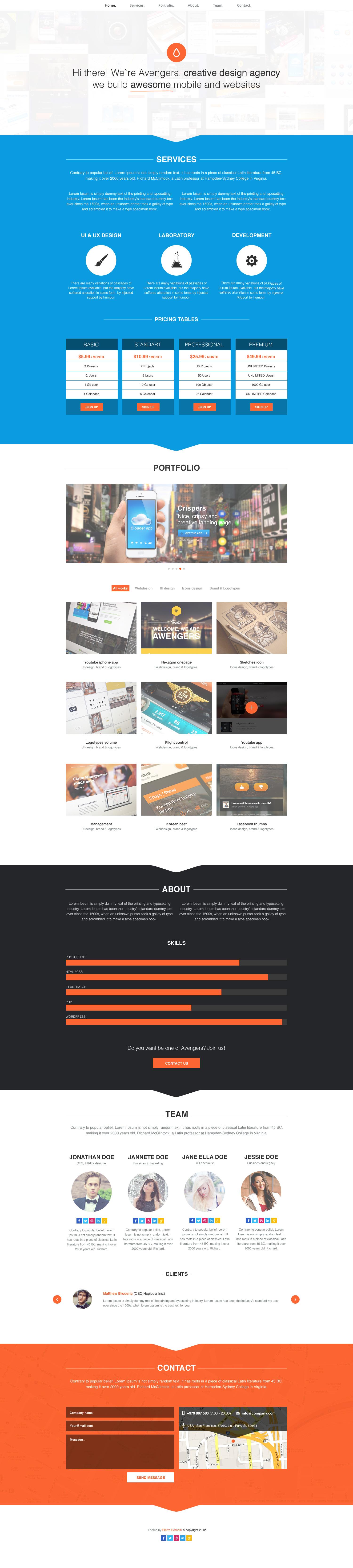 Fresh Onepage Portfolio By Numarislp On Deviantart Web Design Firm Web Design Pretty Web Design