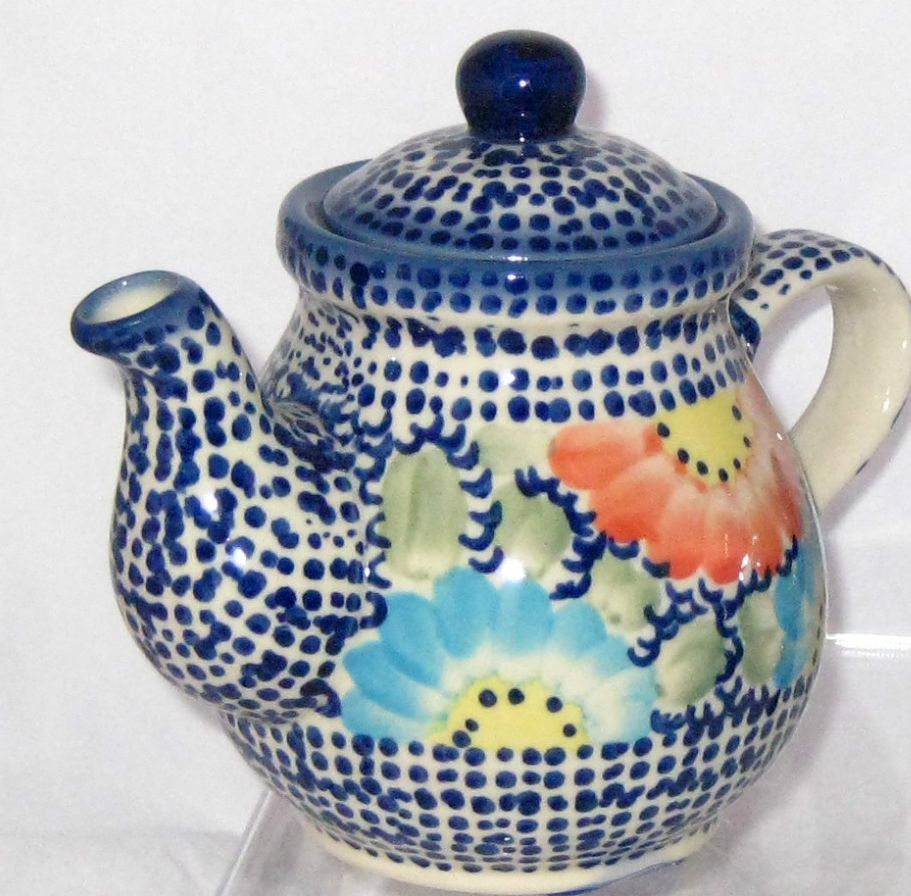 Polish Pottery Personal Teapot For One