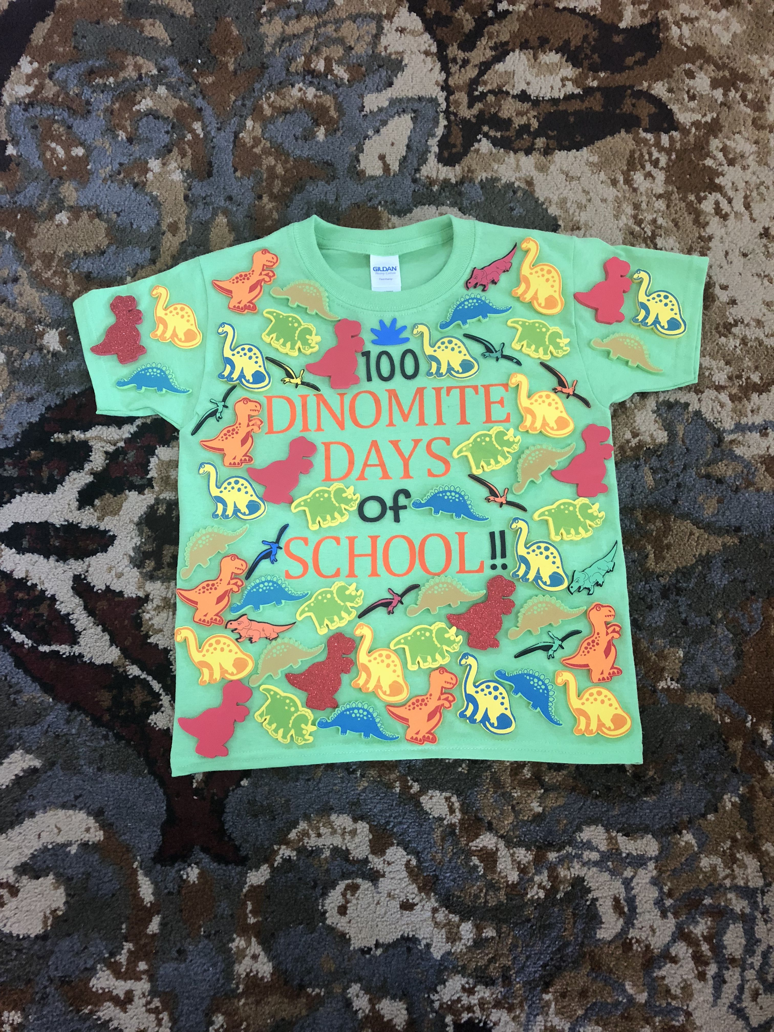 100 Days Of School Dino Shirt Idea With Images 100 Days Of
