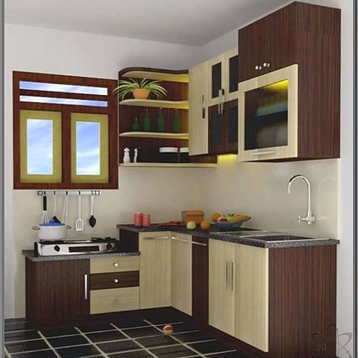 kitchen set mini terbaru dapur minimalis idaman