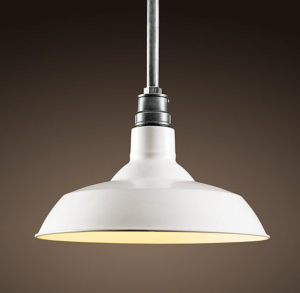 How Many Pendant Lights Over Peninsula : Vintage barn light from restoration hardware available in