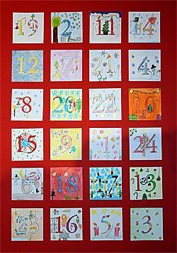 Selbstgebastelter Adventskalender Fur Das Klassenzimmer Adventkalender Adventskalender Advent