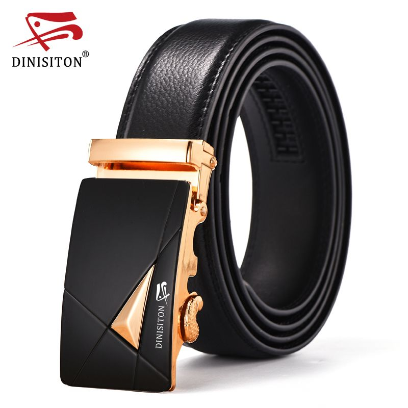 Mens Automatic Leather Belts Fashion Style Business Buckle Waist Black By QHA