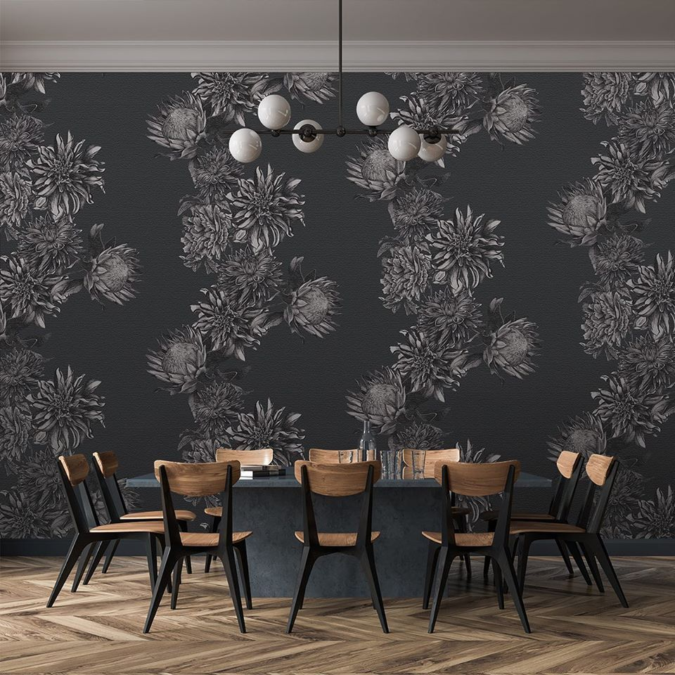 """By far the most well received pattern in the new Beaufort collection this year at Deco Off. Pattern Dahling is printed on a linen substrate and is a modern take on a traditional theme."" #primaverainteriorfurnishings #thevalelondon #wallcoverings #luxurywallpaper #diningroom #interior #homesweethome #diningroomdecor #interiordesigner #interiordecor #homestyle #lovemyhome #homeinteriors #dream_interiors #interiorlove #interiordesire #luxuryhomes #eclecticdecor #residentialdesign #wallcovering"