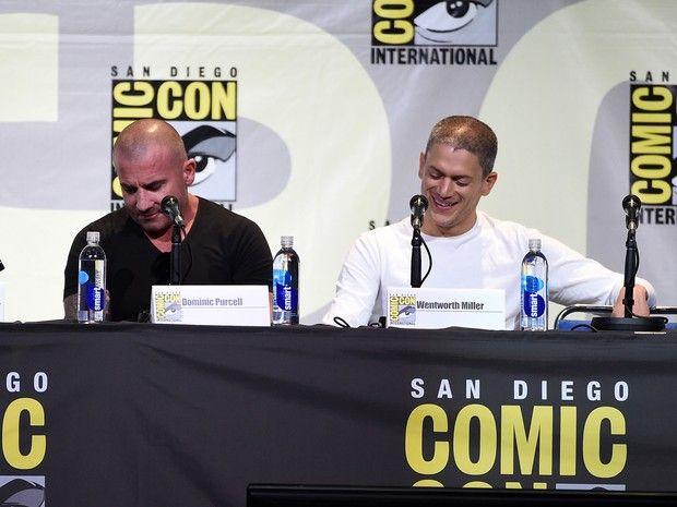 Os atores Dominic Purcell e Wentworth Miller falam sobre o retorno de Prison Break, neste domingo (24), na Comic-Con 2016 (Foto: KEVIN WINTER…