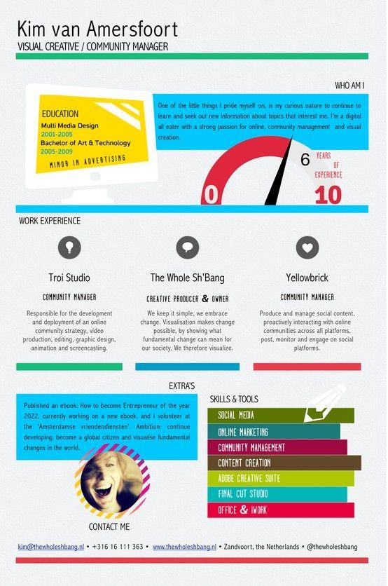 My visual resume #CV #resume Work Pinterest Resume cv