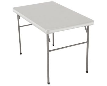 Captivating Lifetime Portable Folding Table   1001582 White Granite 42 Inch Craft Table