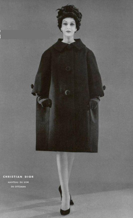 c546149cc4cb 1958 - Yves Saint Laurent for Christian Dior coat   Yves Saint ...