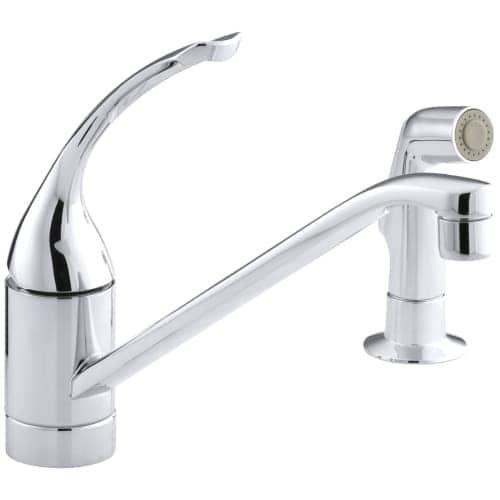 Kohler K-15176-TL Single Handle Kitchen Faucet with Side Spray ...
