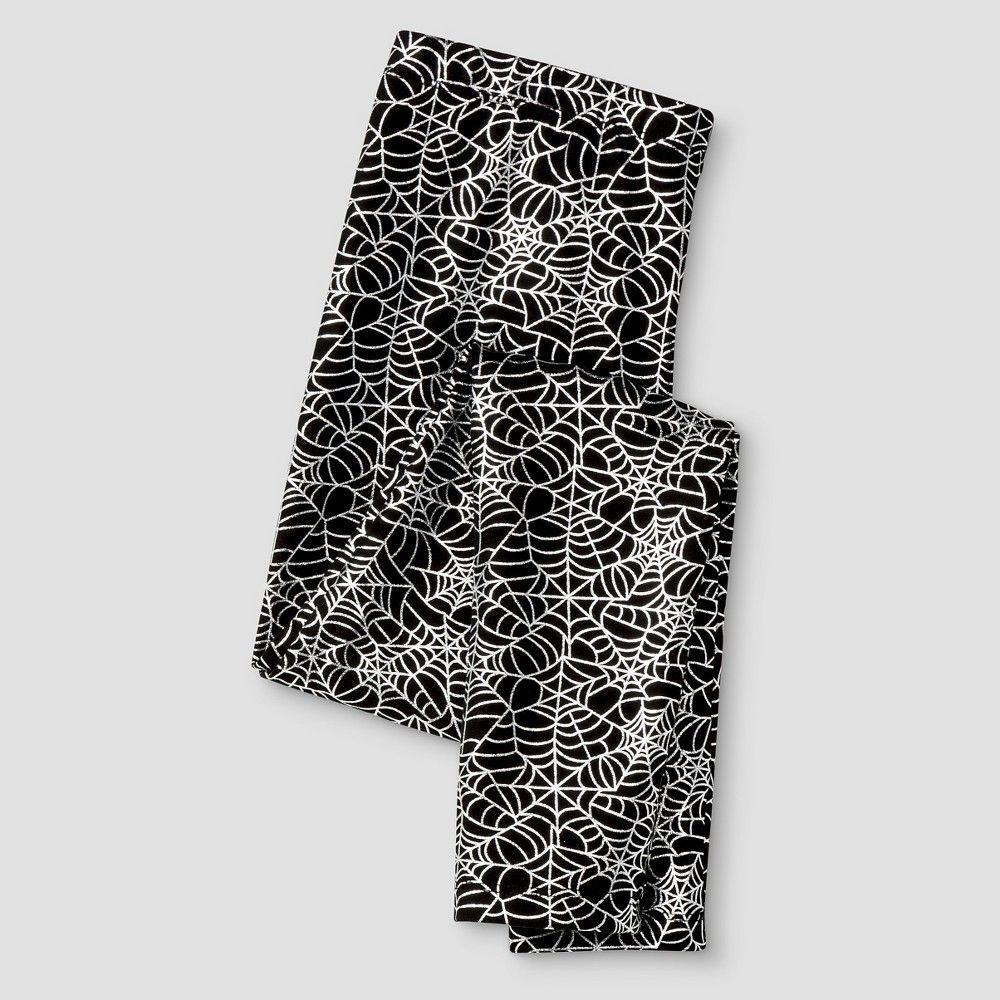 8274a0c11b4ad Girls' Spider Web Graphic Leggings Cat & Jack - Ebony XS, Toddler Girl's,  Black