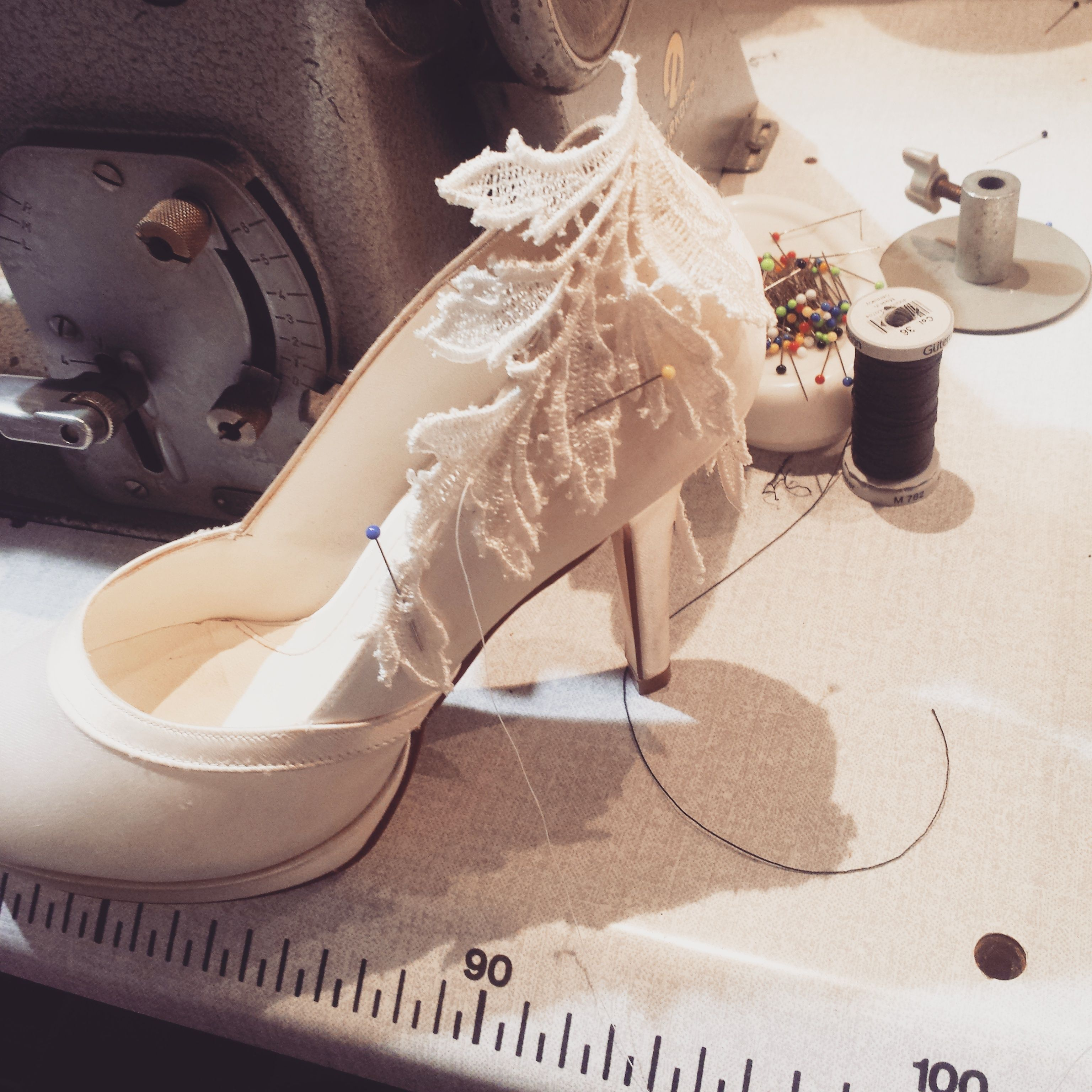 Work in progress #Hillenius Couture Shoes Lace Kant Handwerk ambacht Weddings Bruiden