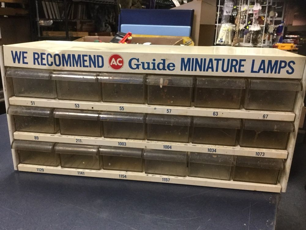 AC Delco Guide Lamps Vintage Auto Parts Gas Service Station ...