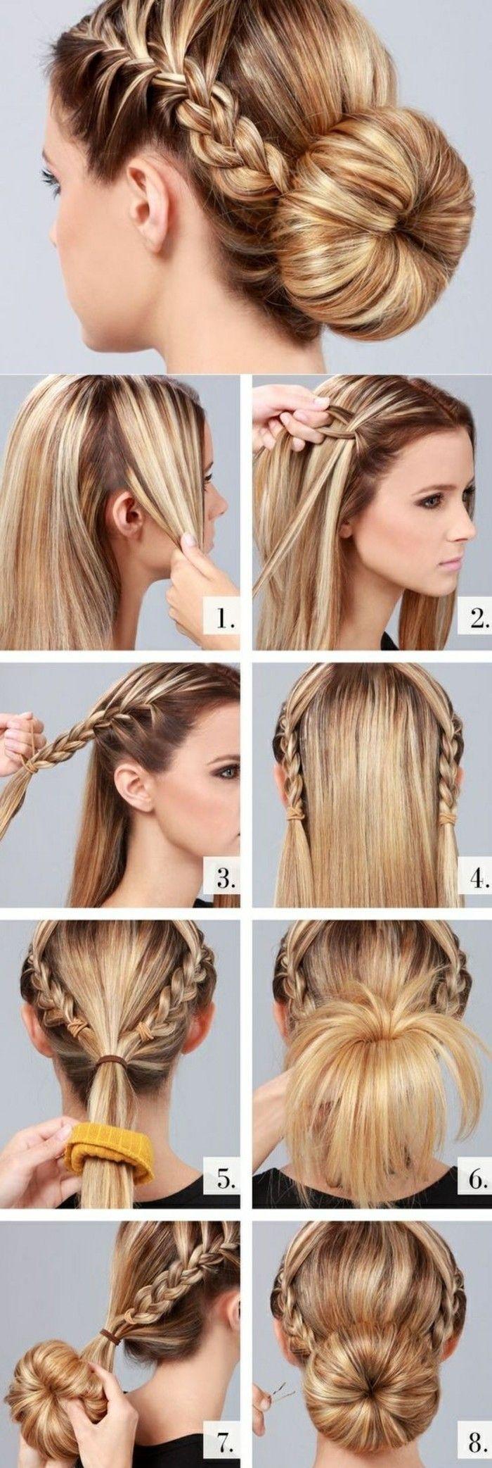 1001 Ideen Wie Sie Effektvolle Hochsteckfrisuren Selber Machen Zopf Lange Haare Diy Zopfe Frisur Hochgesteckt