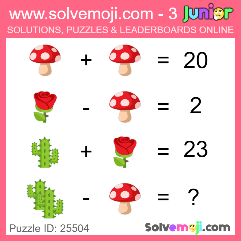 Solvemoji Emoji Math Popular Puzzles (With images)