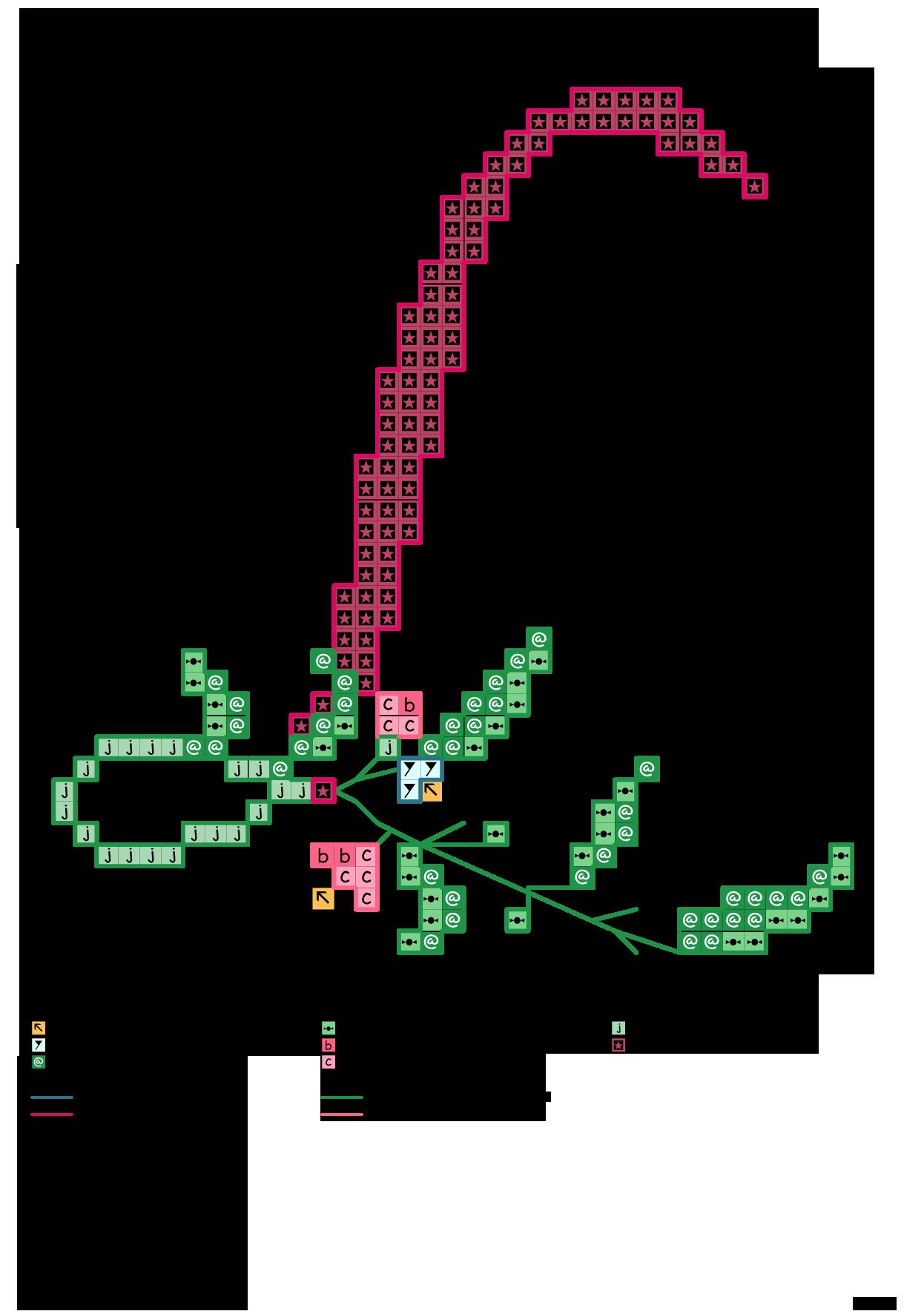 Alfabeto rosa antico con rametto di fiori: L