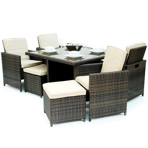 Exceptionnel Kontiki Monte Carlo Series 9 Piece Dining Cube Set