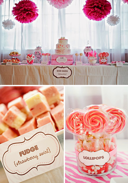 Baby Shower Decorating Ideas: Pink Retro Candy Shop | Chic & Cheap Nursery™