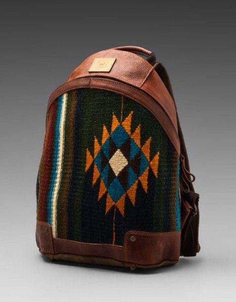 211fd31489 Cool aztec leather bag   Baggage   Bags, Backpacks, Backpack bags