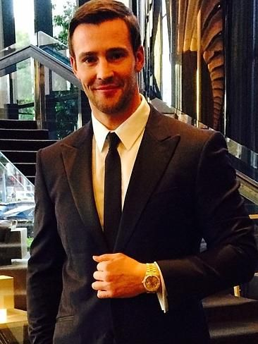 """2014 Logies - Love the watch! The Daily Edition's Kris Smith showing of his pre Logies bling. """"Logies time...... Let's do this. Thanks to @brentwilsonfashion @Kristin Myers and @lk_boutique for the 18ct Solid Gold diamond encrusted Rolex Daydate #wtod #wristcandy #tvweeklogies #myerfashion."""" Picture: Instagram"""