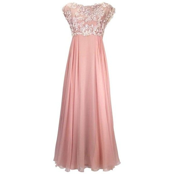 Preowned 1960s Helen Rose Silk Pink Beaded Evening Gown ($1,550 ...