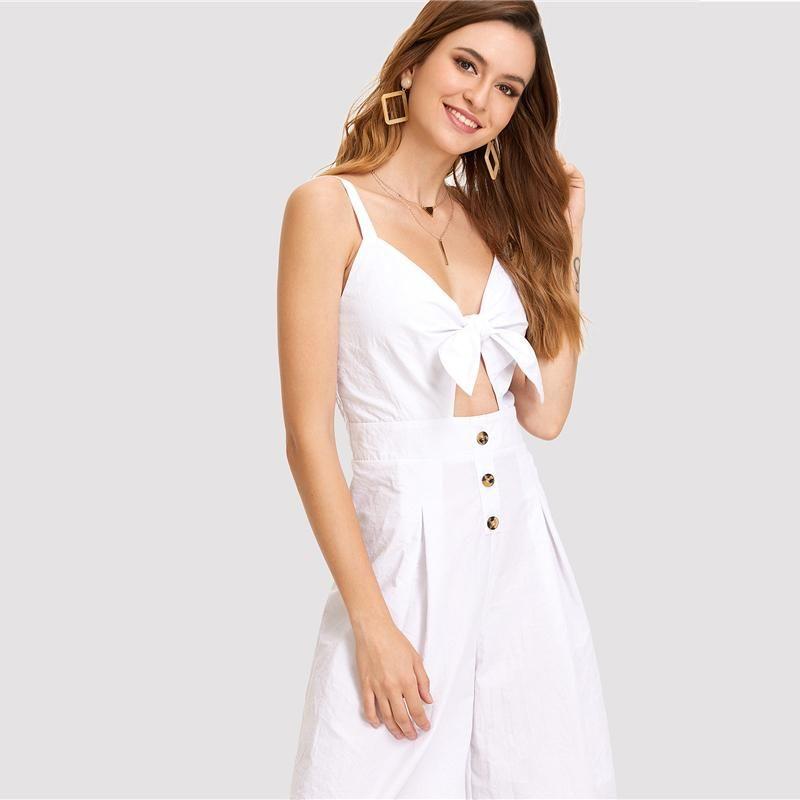 Womens White Jumpsuit Women Apparel Pinterest Jumpsuit White