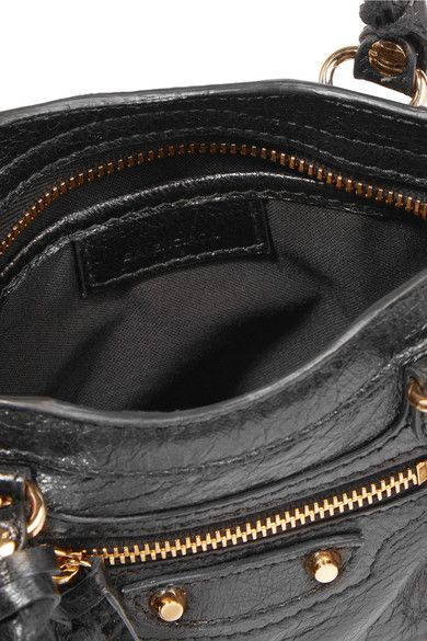 a9c65c402af9 Balenciaga - Classic City Nano Texured-leather Shoulder Bag - Black - one  size