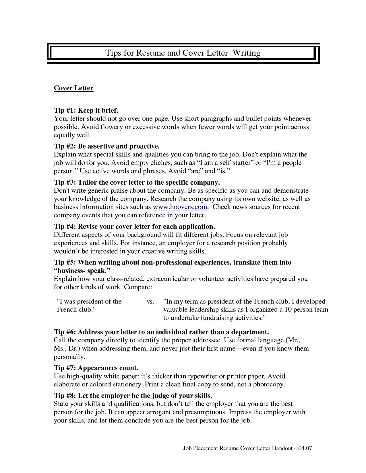 Bullet Point Resume Template Resume Cover Letter Download Now