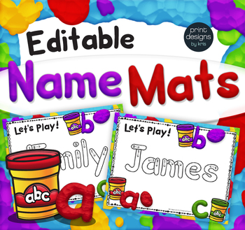 Are You Ready To Play With Some Clay Yes These Incredibly Easy To Use Editable Playdoh Name Mats Uti Name Writing Activities Preschool Names Name Activities