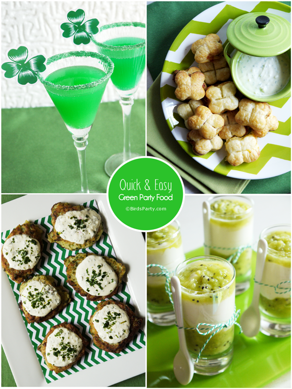Birds Party Blog St Patricks Day Last Minute GREEN Food Cocktail