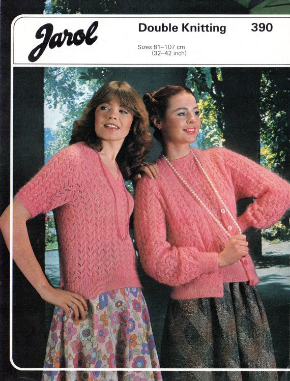 Womens cardigan and top Knitting pattern, Jarol 390, Womens Vintage ...