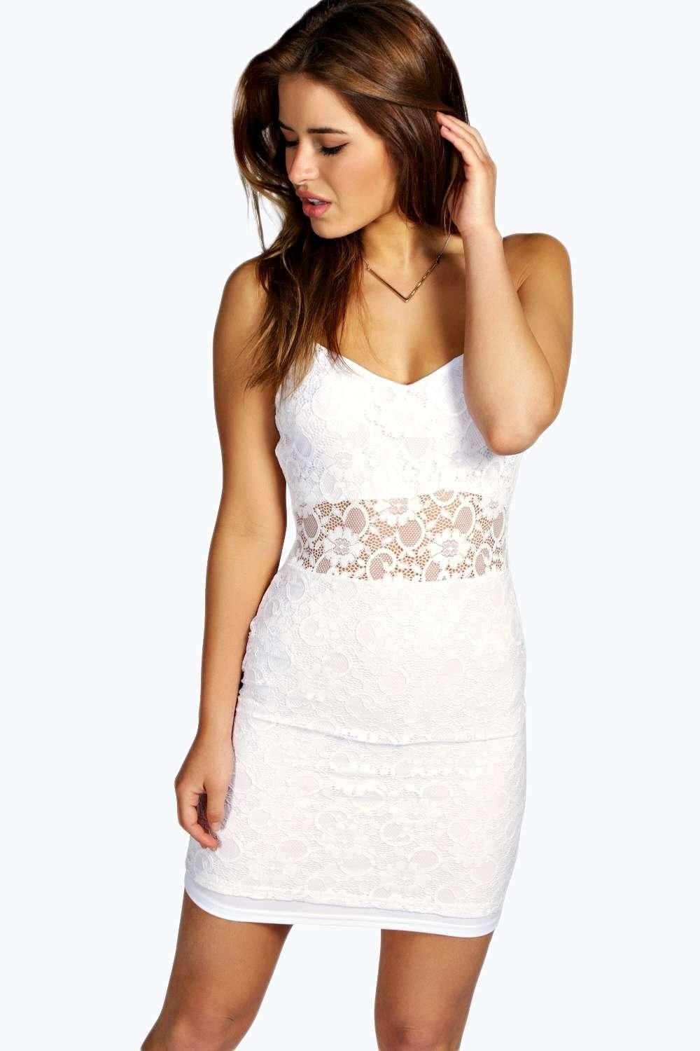 Boohoo Boutique Lace Panelled Bodycon Dress Get To Buy Cheap Online T8lDxjui