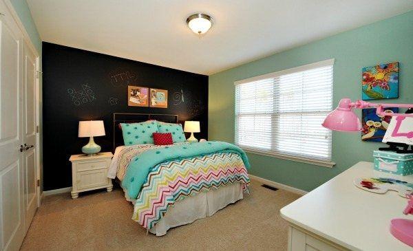 Tween Girl Bedrooms With Chalkboard Paint Chalkboard Paint Accent Wall Home Bedroom Walls
