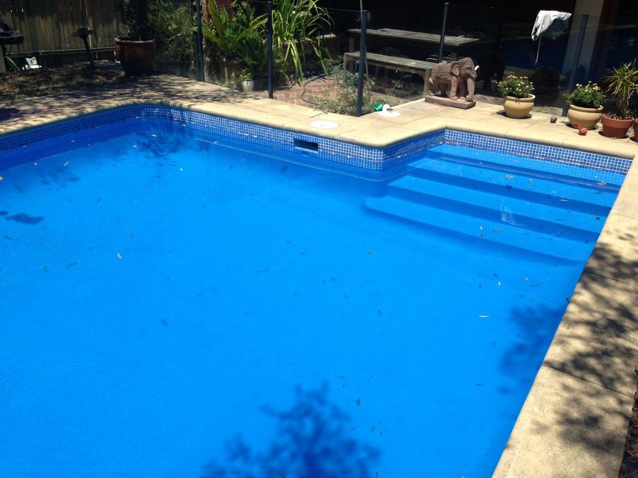 Completed work on pool resurfacing night blue colour pool - Swimming pool paint for concrete pools ...