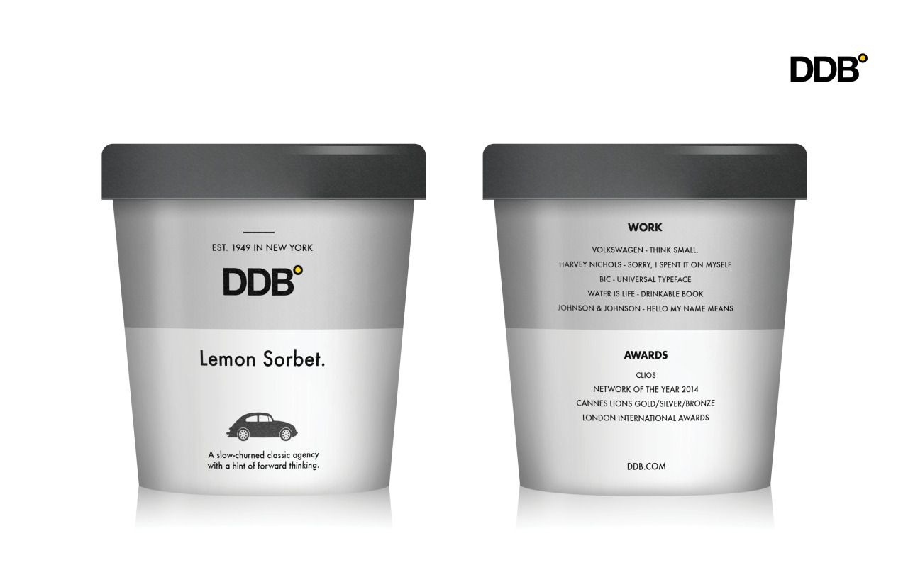 DDB - Lemon Sorbet. Agency Scoops. Miami Ad School NY. Aditya Hariharan /Joshua Namdar