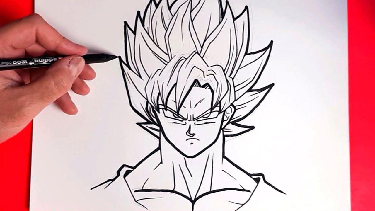 Como Dibujar A Goku Ssj Facil How To Draw Goku Ssj Easy Como Dibujar A Goku Dibujo De Goku Como Dibujar
