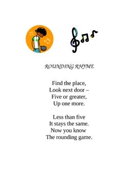 Rounding rhyme math and students students fandeluxe Image collections