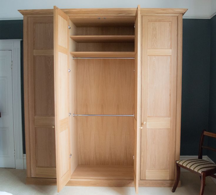 Bespoke Solid Oak Regency Styled Freestanding Wardrobes Made To The Clients Specification In Che Fitted Bedroom Furniture Oak Bedroom Furniture Fitted Bedrooms