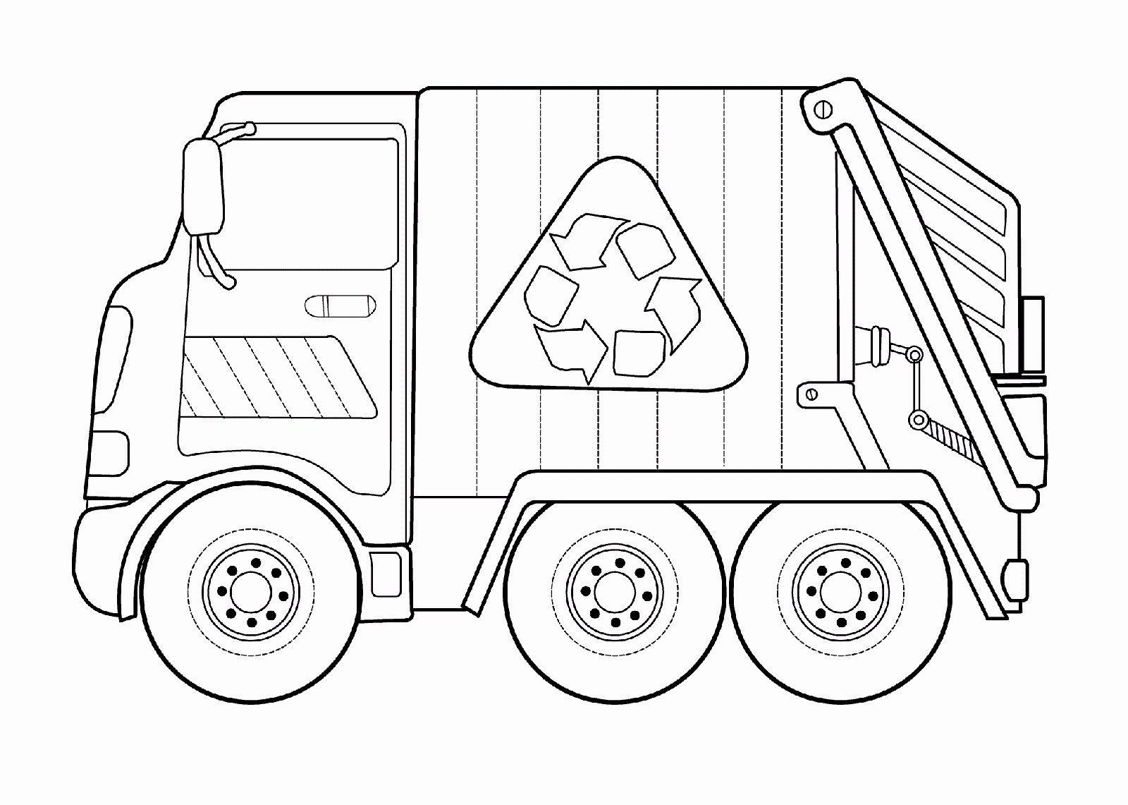 Garbage Truck Coloring Sheet New Coloring Ideas Unicorn Coloring Pages Preschool