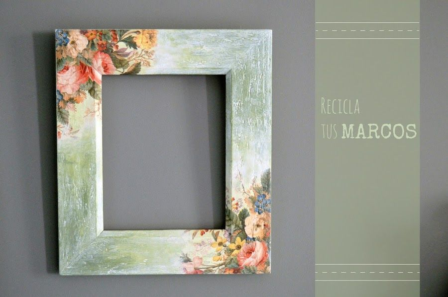 Una preciosa decoración para marcos de madera | Marcos, Decorando ...