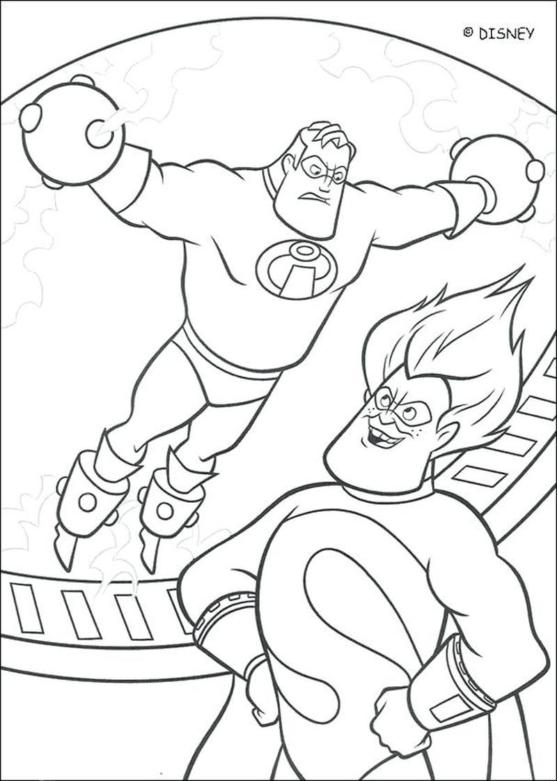 Incredibles 2 Coloring Pages Printable