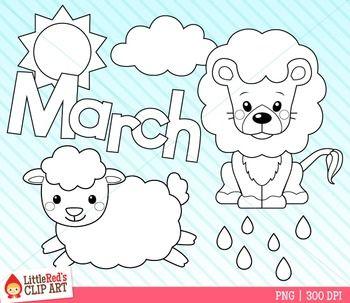 March Clipart Lion And Lamb Lion And Lamb Clip Art Quilt Applique Patterns