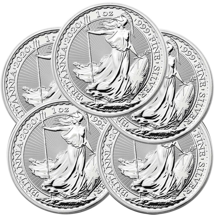 Lot Of 5 2020 1 Oz Silver Britannia Coin Bu Bb 5 Silver 2020 159 46 Aydin Coins Jewelry Buy Gold Coins Silver Coins Silver Bar Gold Bullion Silv In 2020 Silver Eagle Coins Silver Bullion Coin Jewelry
