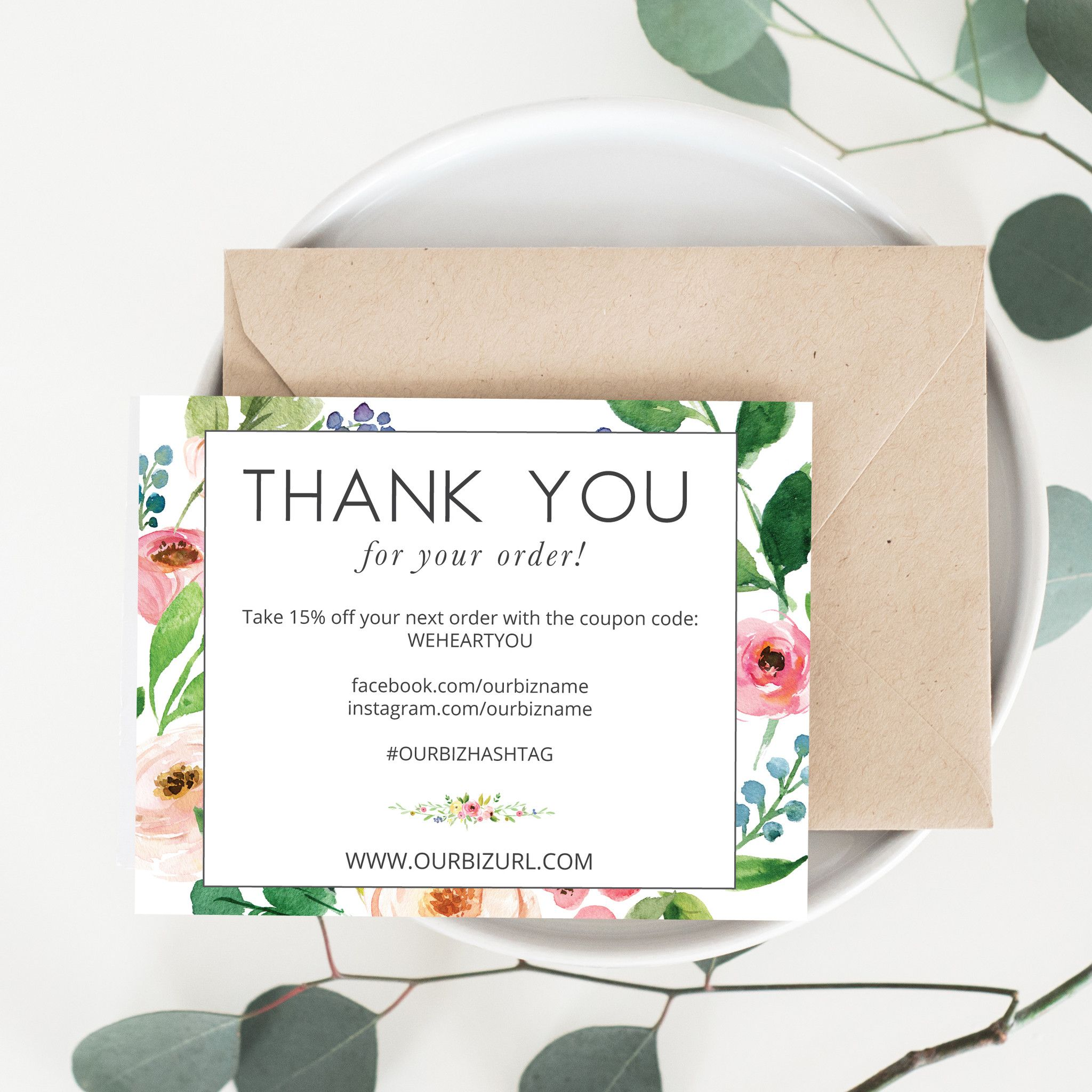 Business Thank You Card Template Printable Business Thank You Cards Template  Olive  Future Busi .