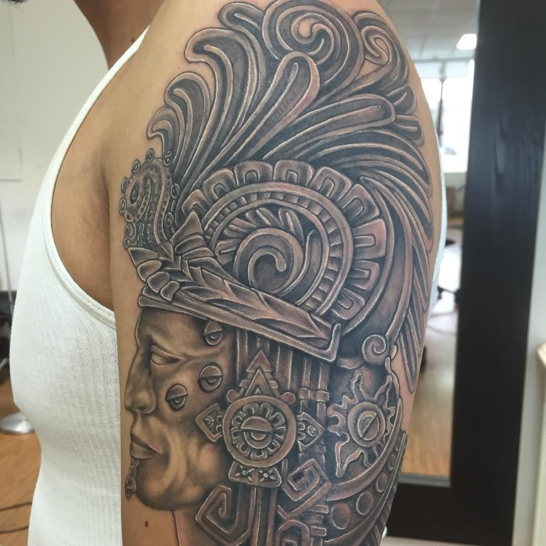 7fae1b0c0 25 Beautiful Mexican Tattoos On Half Sleeve | GCB | Mexican tattoo ...