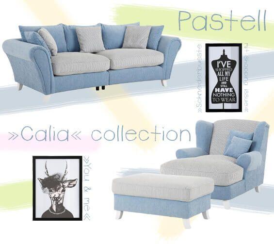 Wunderbare Polstermöbel in Pastelltöne: Big Sofa, Big Sessel und ...