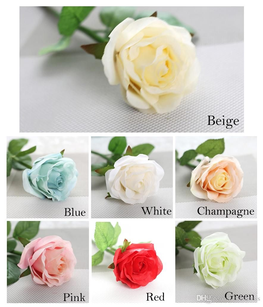 10pcslot Decor Rose Artificial Flowers Silk Flowers Floral Latex