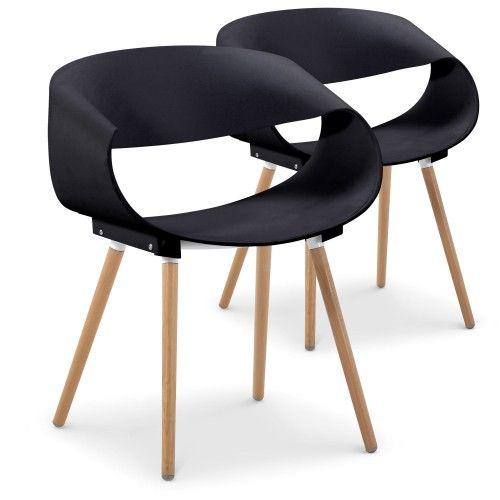 Chaise tissu noir good chaise mtal noir et tissu effet for Chaise zenata