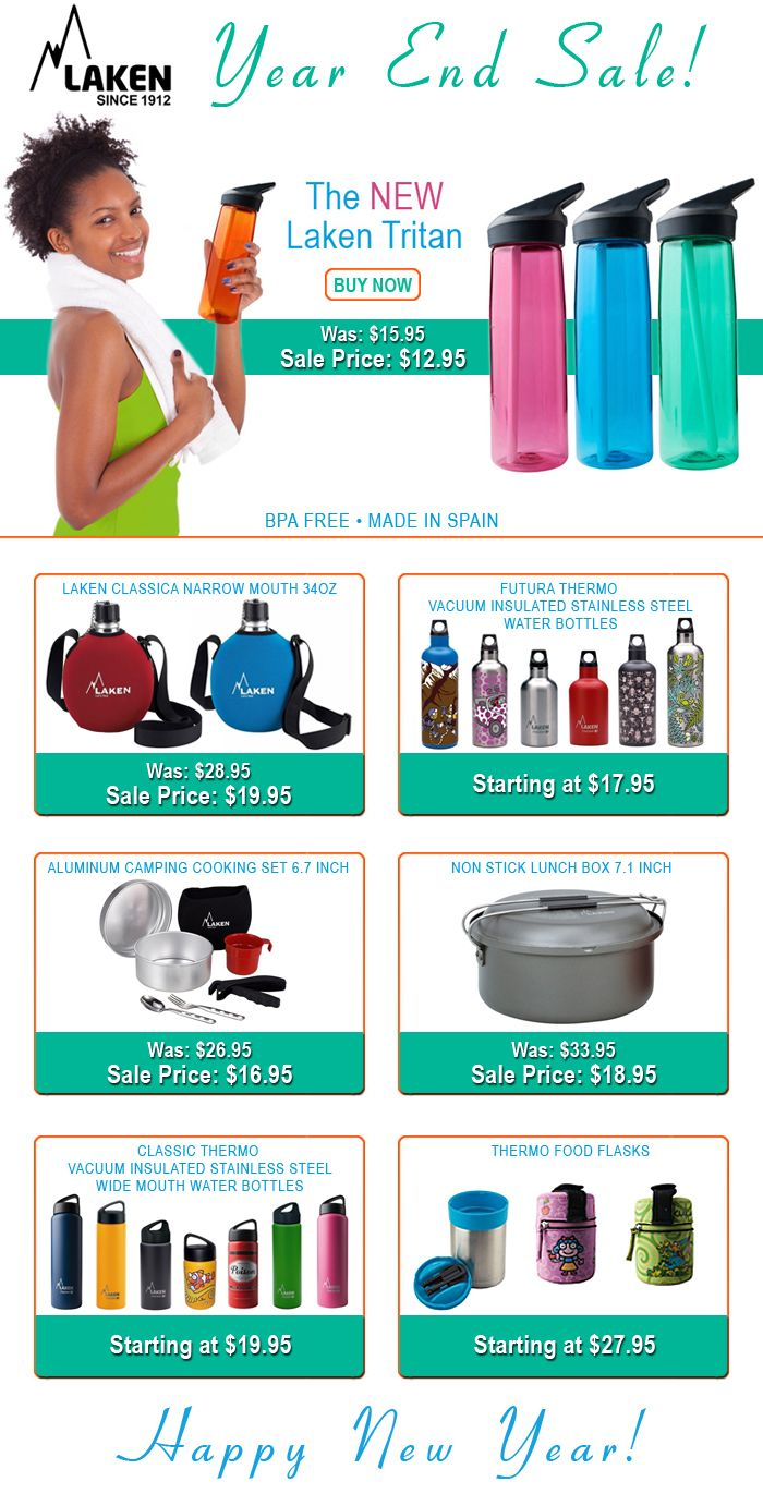 Be sure to check out our Year End Sale: http://www.lakenusa.com/?Click=246  #YearEndSale #WaterBottles